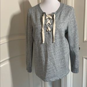 Old Navy lace up sweatshirt
